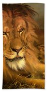 A Lion And A Lioness Beach Towel