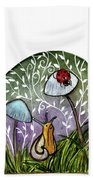 A Little Chat-ladybug And Snail Beach Towel