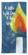 A Little Light- Art By Linda Woods Beach Towel