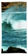 A Little Wave Action Beach Towel