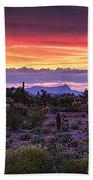 A Magical Desert Morning  Beach Towel