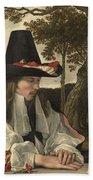 A Man Reading, Anonymous, C. 1660 Beach Towel