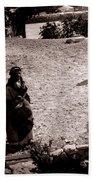 A Man With His Bride 1900s Beach Towel