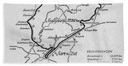 A Map Of The Nurburgring Circuit Beach Towel