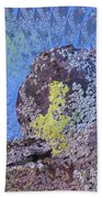 A Mossy Rock  Beach Towel