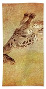 A Mother's Kiss Painted 2 Beach Towel