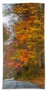 A Newport Autumn Beach Towel