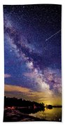 A Northern View Of The Milky Way Beach Towel