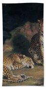 A Pair Of Leopards Beach Towel