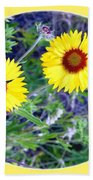 A Pair Of Wild Susans Beach Towel