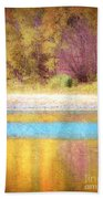 A Pastel Autumn Beach Towel