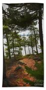 A Path To The Point Beach Towel