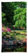 A Peaceful Feeling At The Azalea Pond Beach Sheet
