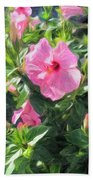 A Pink Hibiscus Beach Towel