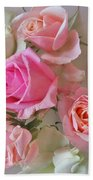 A Plate Of Roses Beach Towel