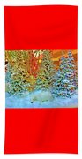 A Polar Bear Christmas 2 Beach Towel