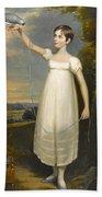 A Portrait Of Ellen Smith Of Nottingham Beach Towel