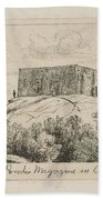 A Powder Magazine In Central Park From Scenes Of Old New York, By Henry Farrer, 1844-1903 Beach Towel