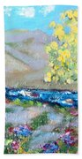 A Quiet Place Beach Towel