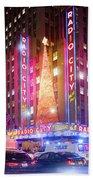 A Radio City Music Hall Christmas Beach Towel