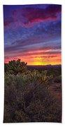 A Red Hot Desert Sunset Beach Towel