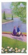 A Ride In The Park Beach Towel
