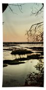 A River Sunset In Botswana Beach Towel