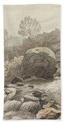 A Rocky Stream Beach Towel