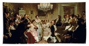 A Schubert Evening In A Vienna Salon Beach Towel