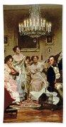 A Schubert Evening In A Vienna Salon Beach Towel