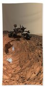 A Selfie On Mars Beach Towel