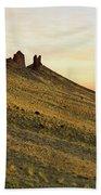 A Shiprock Sunrise - New Mexico - Landscape Beach Sheet