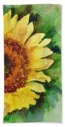 A Single Sunflower Beach Towel