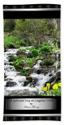 A Splendid Day On Logging Creek Beach Towel