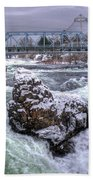 A Spokane Falls Winter Beach Towel