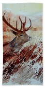 A Stag Beach Towel
