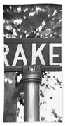 Dr - A Street Sign Named Drake Beach Towel