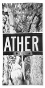 Fe - A Street Sign Named Feather Beach Towel