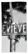 Ge - A Street Sign Named Genevieve Beach Towel