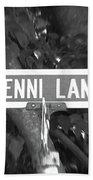 Je - A Street Sign Named Jenni Beach Towel