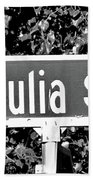 Ju - A Street Sign Named Julia Beach Towel