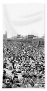 A Summer Day At Coney Island Beach Towel