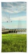A Summer Evening In Charleston Beach Towel