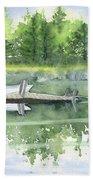 A Summer Pond Beach Towel