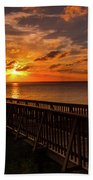 A Sunset At Spanish Wells Beach Towel