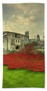 A Sweep Of Poppies  Beach Towel