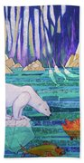 A Tale Of Light And Ice Beach Towel