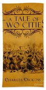 A Tale Of Two Cities Book Cover Movie Poster Art 1 Beach Towel