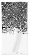 A Tree In Snowy Winter Beach Towel