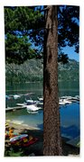 A Trees View Of Fallen Leaf Lake Beach Towel